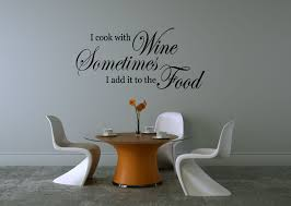 wine wall stickers quotes decal cook with wine kitchen diner lounge vinyl art wall stickers quotes decal