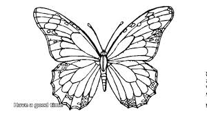 simple butterfly coloring pages printable for preschool images