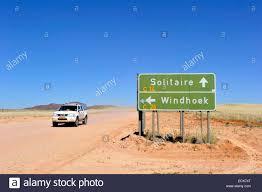 namibia khomas region the road to solitaire stock photo royalty
