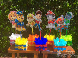 paw patrol candy table ideas paw patrol centerpieces for birthday candy buffet or favors