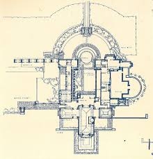 hollyhock house plan frank lloyd wright drawing the king of architecture pinterest