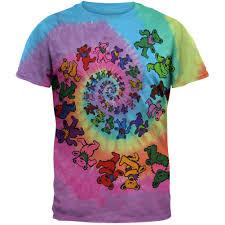 grateful dead spiral bears tie dye t shirt chicago tribune store