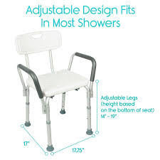 amazon com shower chair with back by vive bathtub chair w arms