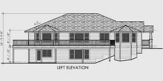 walk out basement floor plans side sloping lot house plans walkout basement house plans 10018