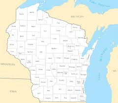 Wisconsin Lake Maps by Wisconsin Map Blank Political Wisconsin Map With Cities