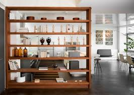 kitchen bookshelf ideas wooden bookshelf room divider ideas kitchen and living room