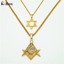 free necklace images Couples necklace set masonic illuminati symbol free mason and star jpg