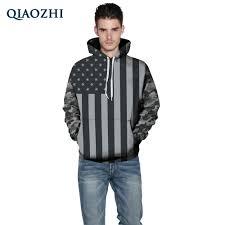 American Flag Hoodies For Men Qiaozhi Usa Flag Hoodies Men 3d Sweatshirts Print Striped Stars
