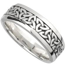celtic knot ring wedding band sterling silver mens celtic knot ring