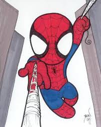 28 spiderman images drawings chibi marvel