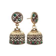 high end alloy based party wear elegant indian bali jhumkas drop