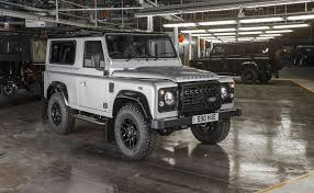 vintage range rover defender the two millionth land rover defender the muddy milestone arrives