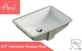 rectangular white biscuit porcelain ceramic vanity undermount