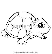 turtle icon illustration isolated vector sign stock vector