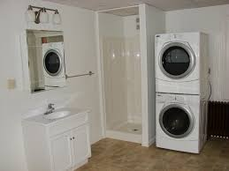 bathroom with laundry room ideas cool white bathroom and machine on the side of laundry room