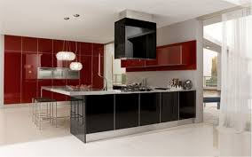 l shaped kitchen designs with island pictures outofhome white red