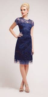 blue dress cinderella 1921 semi formal knee length lace navy blue