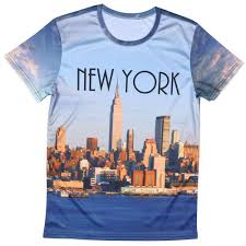 travel shirts images Men 39 s new york city fashion shirt 3d print design men boys tshirt jpg