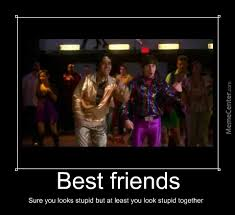 Stupid Friends Meme - best friends sure you look stupid but you do it together by