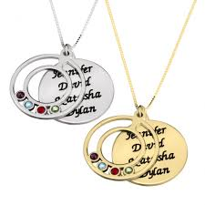 s day necklace with children s names cosy mothers necklace name and birthstone with names children s