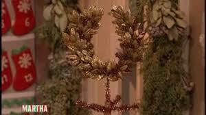 glittered laurel crown tree topper martha stewart