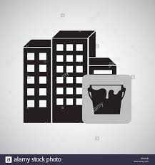 construction reapir building painting icon design vector