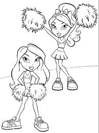 bratz cheerleading coloring pages free coloring pages 11939