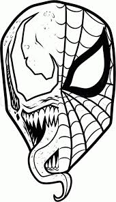 simple spiderman drawing how to draw venom easy step step marvel