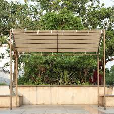 Patio Canopies And Gazebos by Ikayaa Metal Patio Garden Wall Gazebo Canopy Awning Door Porch