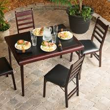 wood folding table and chairs set facil furniture