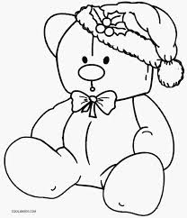 christmas teddy bear coloring pages coloring