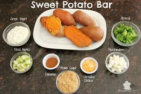 toppings bar sweet potato bar healthy ideas for kids