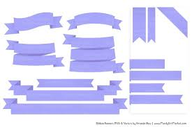 periwinkle ribbon periwinkle ribbon banner clipart illustrations creative market
