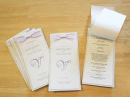 booklet wedding programs make a modern and crafty wedding program booklet chica and jo