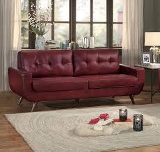 sofa match homelegance deryn sofa red leather gel match 8327red 3