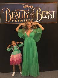 beyonce blue ivy carter beauty and the beast premiere