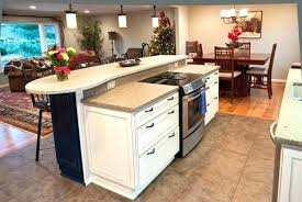 stove in island kitchens kitchen island with stove and oven bloomingcactus me