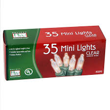 35 count clear christmas light set string lights amazon com