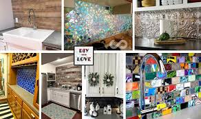 creative kitchen backsplash frugal and creative kitchen backsplash diy projects diy with