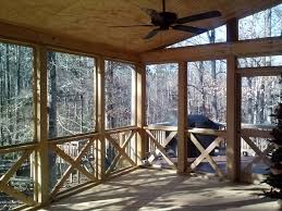 rustic screen porch in macon ga view from interior archadeck of