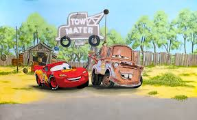 boy s room mural with cars mcqueen mater buzz lightyear fireman mater and mcqueen buzz lightyear fireman sam and thomas the tank in boy s room