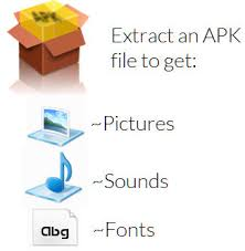 apk extract tip extract any app or s apk to get fonts pictures sounds