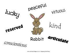 rabbit poster characteristics poster