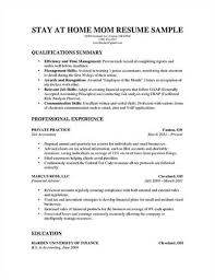 Stay At Home Mom Resume Template Excellent U003ca Href U003d