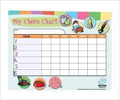 Chore Sheet Template Sle Chore Chart Reward Chore Chart Free Printable