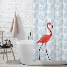 Flamingo Shower Curtains Aliexpress Buy Peva Eco Friendly Colorful Flamingos Shower