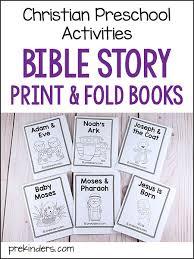 bible story print fold books for pre k preschool