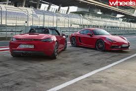 stanced porsche boxster 2018 porsche boxster gts and cayman gts revealed wheels