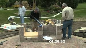 Outdoor Cinder Block Fireplace Plans - outdoor fireplace construction time lapse youtube