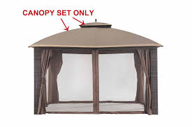 Pergola Replacement Canopy by Amazon Com Sunjoy Replacement Canopy Set For 10x12ft Riviera